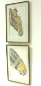 Paintings on display as part of the war horse exhibition