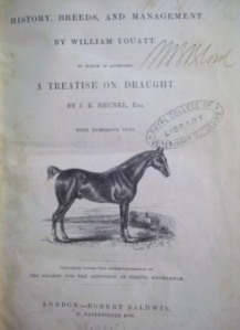 Title page of Youatt The Horse