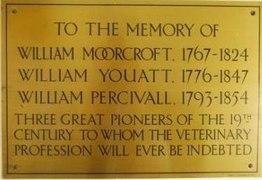 Plaque to 19th century veterinary pioneers