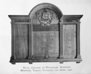 RCVS World War 1 memorial